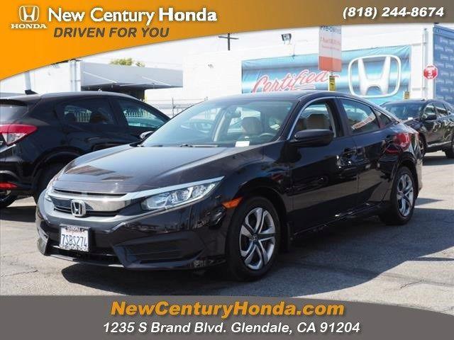 Honda North Hollywood >> Used 2016 Honda Civic For Sale Near Honda Dealer In North Hollywood
